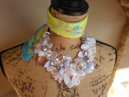 White HL TS Necklace