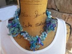 Turquoise Sari motif